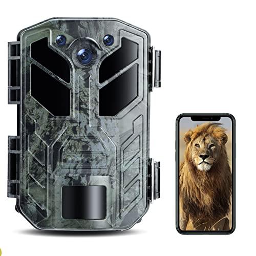4K 30MP WiFi Bluetooth Wildkamera mit Maximalem Speicher bis zu...