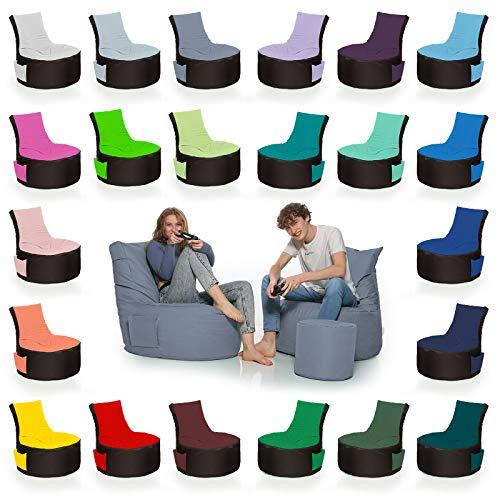 HomeIdeal - 2Farbiger Gamer Sitzsack Lounge für Erwachsene &...