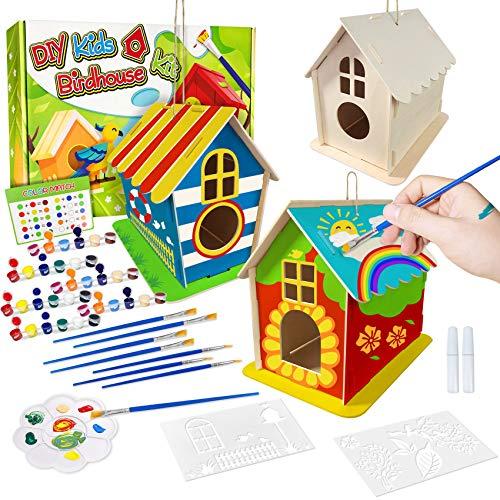DIY Vogelhaus Bausatz für Kinder, Spielzeug Geschenke für Alter...