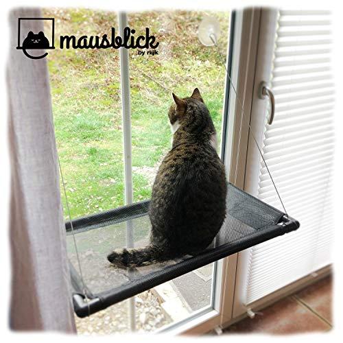 riijk Fenster Katzenhängematte für Katzen bis 23 kg | extra...