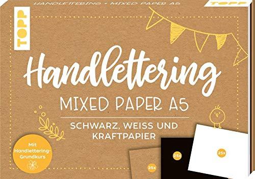 Handlettering Mixed Paper Block A5: 75 feste Papiere zum Lettern...