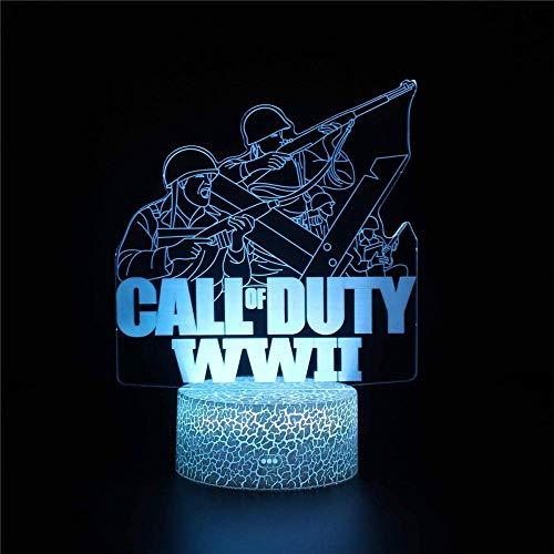 Call Duty Optische Illusion 3D Lampe 3D Nachtlicht Schlafzimmer...