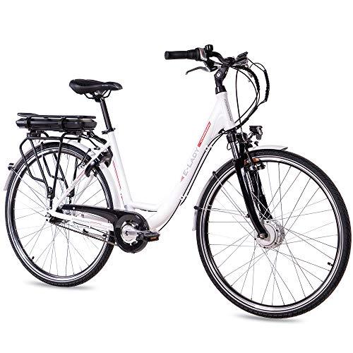 CHRISSON 28 Zoll E-Bike Trekking und City Bike für Damen -...