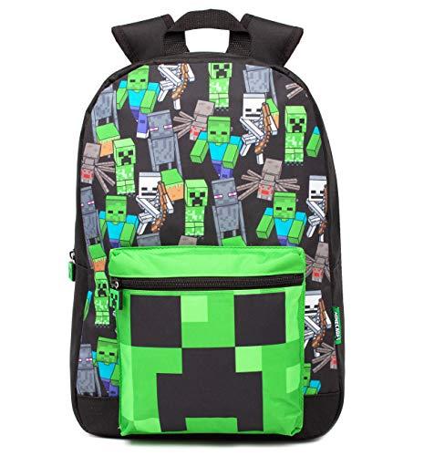 Minecraft Rucksack für Jungen Kinder Black Gamer Bag School...