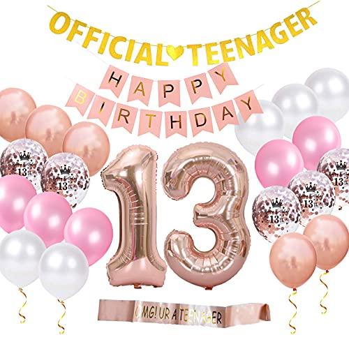 Offizielle Teenager 13. Geburtstagsdekorationen für Mädchen,...