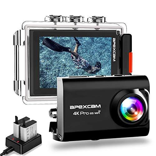 Apexcam Action cam 4K 20MP Sportkamera EIS WiFi wasserdichte...