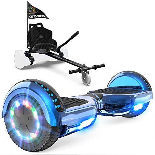 GeekMe Hoverboard mit Sitz, Elektroroller Hoverkart, Elektro...