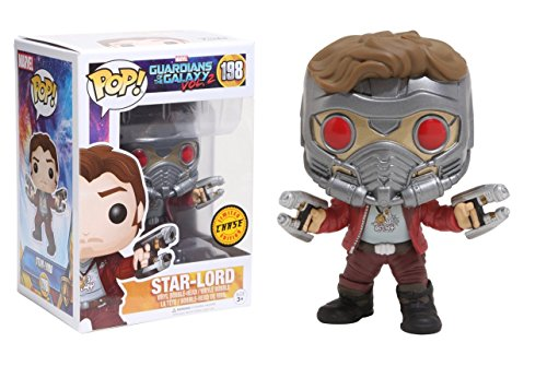 Funko POP! Guardians Of The Galaxy Vol 2: Star-Lord (CHASE) - Stylized Marvel Vinyl Bobble-Head...