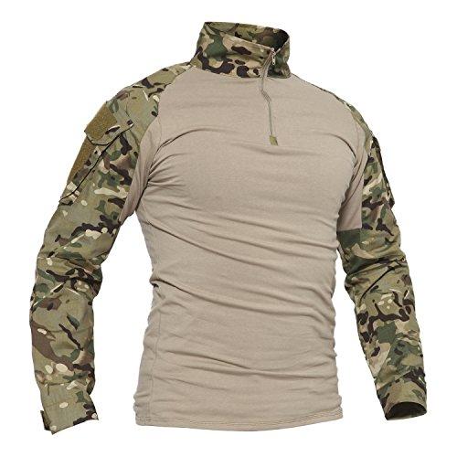 TACVASEN Camouflage Shirt Herren Hunting Jagd Taktisch Hemd Lange...