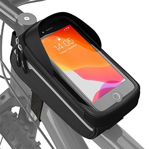 VELMIA Fahrrad Rahmentasche Wasserdicht - Fahrrad Handyhalterung...