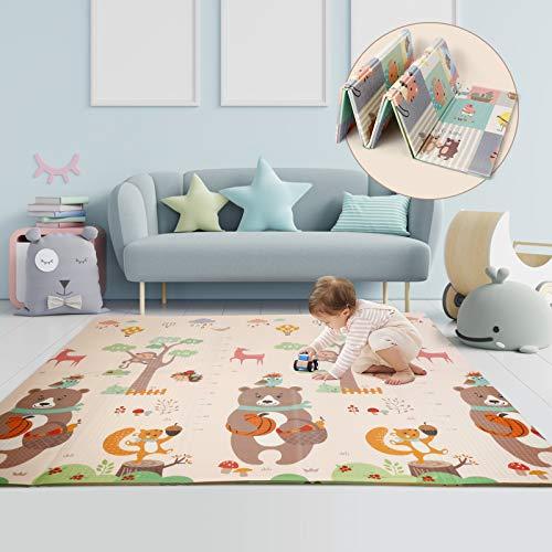 CRZDEAL Baby Krabbelmatte Baby Teppich Spielmatte Umweltfreudlich...