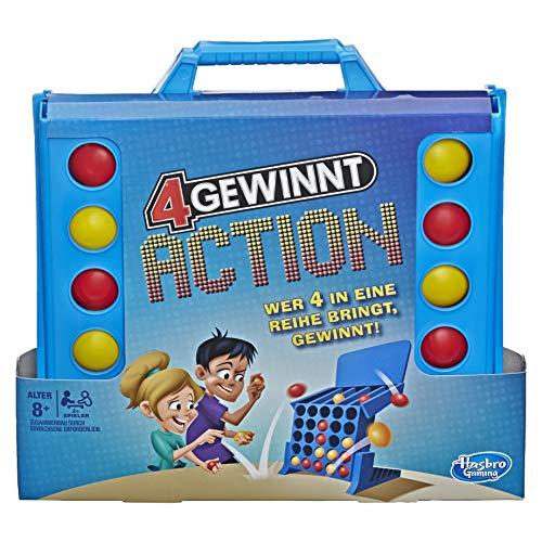 Hasbro E3578100 4 gewinnt Action, temporeiches Kinderspiel