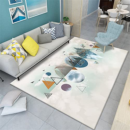 Outdoor Teppich klein blau Wohnzimmer Teppich blau abstraktes...