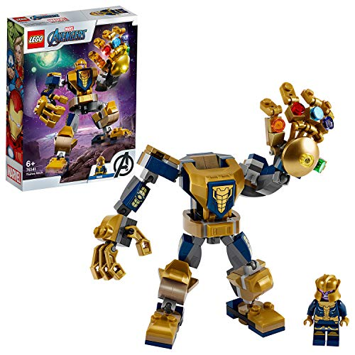 LEGO 76141 Super Heroes Marvel Avengers Thanos Mech Actionfigur, Junior Set für Kinder ab 6...