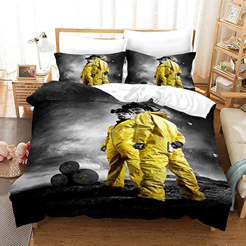 Jinaomy Breaking Bad Bettbezug 3D Digitaldruck Bettwäsche 2...