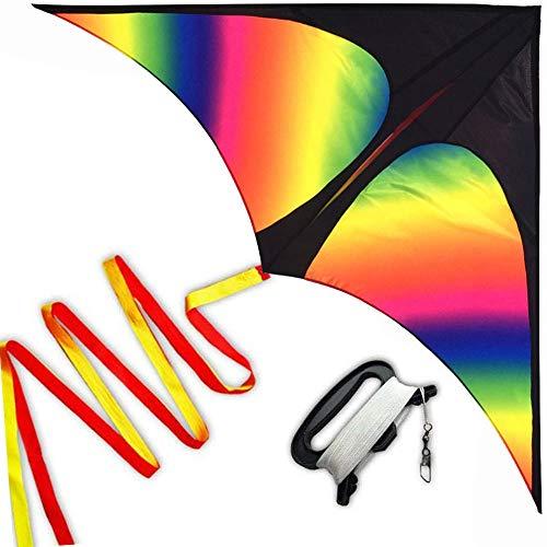 HONBO Rainbow Delta Kites Adults-Beginner Kite for Kids Easy...
