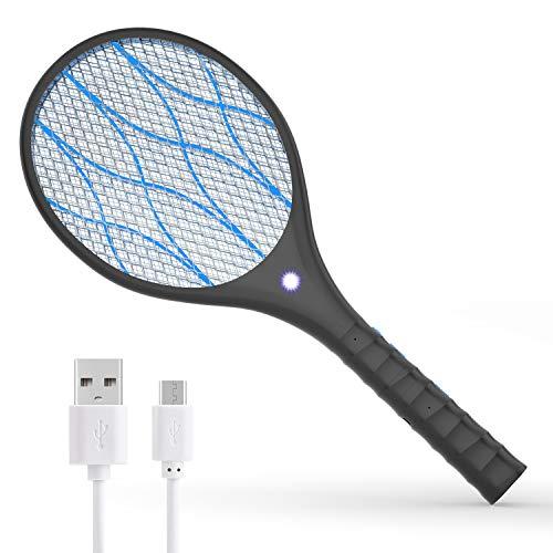Xddias Elektrische Fliegenklatsche, USB Aufladbar Muecken...