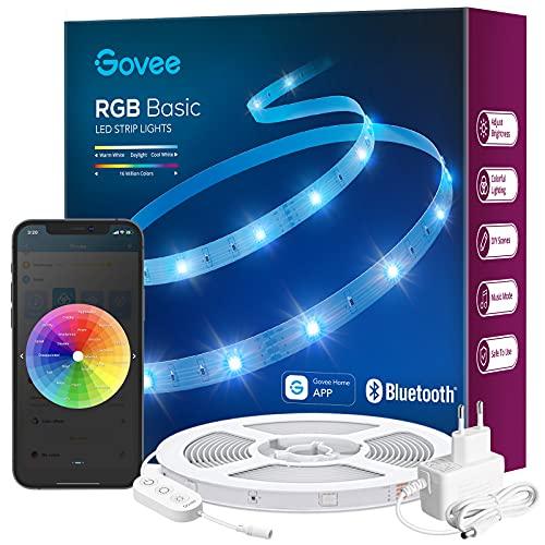 Govee LED Strip 10m, Bluetooth RGB LED Streifen, Farbwechsel,...