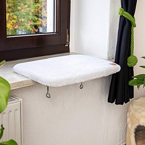 Pfotenolymp® Premium Fensterbrett/Liegebrett für Katzen am...