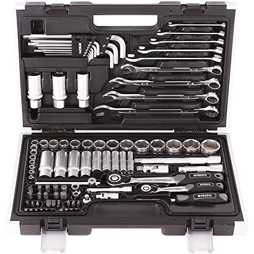 TECPO 300383 Zoll Werkzeug Satz Harley Steckschlüssel Nüsse...