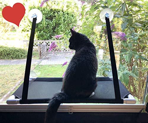 Premium Fensterplatz für die zufriedene Katze Katzenliege...
