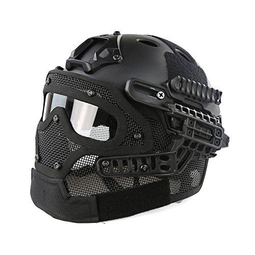 Hotour Taktischer Helm PJ-Typ Fast Molle mit Maske und...