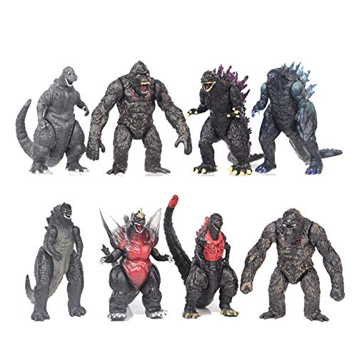 8pcs Godzilla vs Kong Anime Heldenfigur, Godzilla und Kong Set...