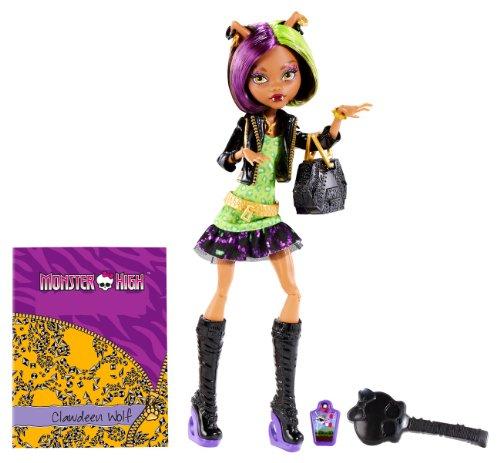 Mattel BGT38 - Monster High New Scare-mester Clawdeen, Puppe mit...