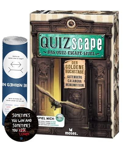 QUIZscape: Das Quiz-Escape Spiel - Der goldene Buchstabe + 5X...
