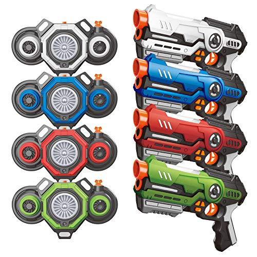 AMOSTING Outdoor Toys Laser Tag Pistolen mit Nebel Effekt Westen...