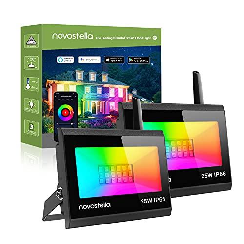 Novostella Upgrade Smart RGB Strahler 25W 2er Set, Blaze LED...