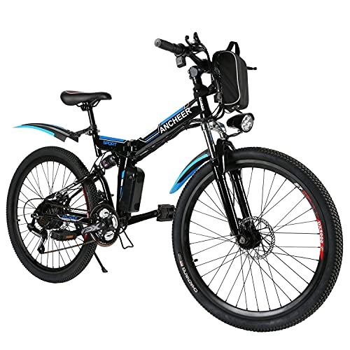 ANCHEER E-Bike/Elektrofahrrad/E-Mountainbike, 26 Zoll faltbar...