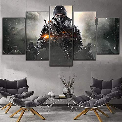 Canvas Gemälde 5 Panel Tom Clancy's The Division HD Print Game...