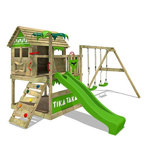 FATMOOSE Spielturm TikaTaka Town XXL - Klettergerüst mit...