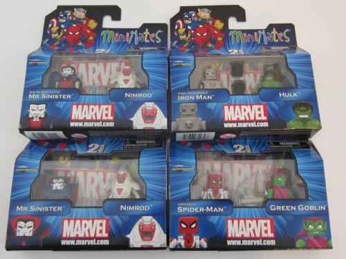 Marvel Minimates Doppelpack Serie 41: Unmasked Spider-Man & Green...