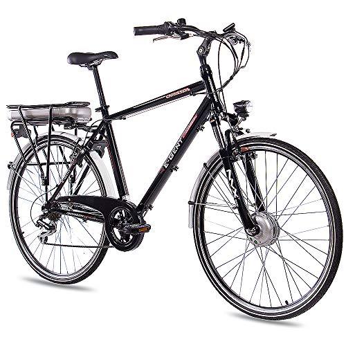 CHRISSON 28 Zoll E-Bike Trekking und City Bike für Herren -...