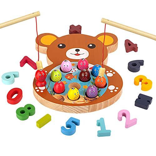 Holzspielzeug Angelspiel Magnet Spielzeug, Montessori Spielzeug,...