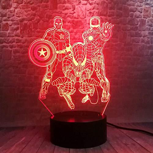 Illusionslicht Des Nachtlichts 3D Avengers Iron Man 3D...