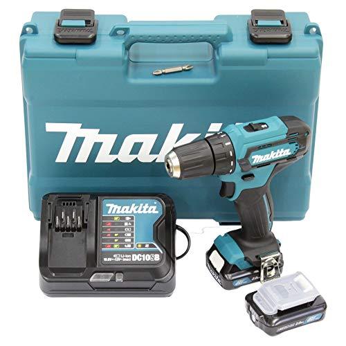 Makita DF333DSAE Akku-Bohrschrauber 12 V max. / 2,0 Ah, 2 Akkus +...