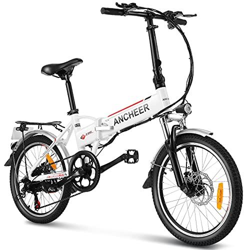 ANCHEER 20 Zoll E-Bike Pedelec Elektrofahrrad mit Lithium-Akku...
