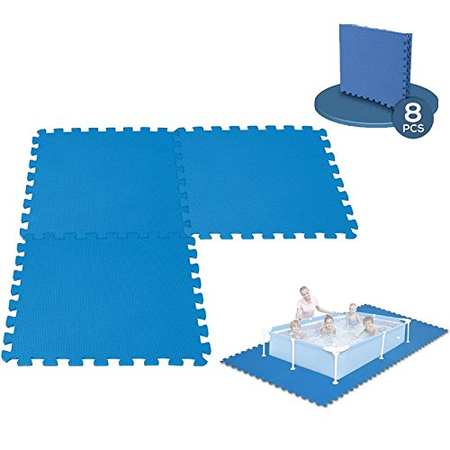 Bodenmatten für den Pool, modular, 50 x 50 cm, 8 Stück