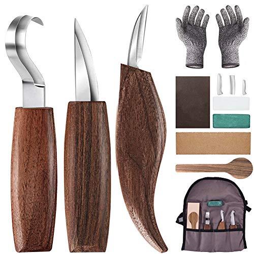 Holz-Schnitzwerkzeug Set, 10 Teiliges Holz Schnitzmesser mit...