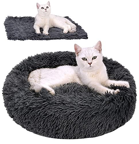 Legendog Katzenbett Flauschig Plüsch Hundebett für Kleinen Hund...