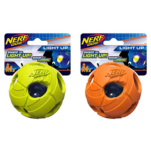Nerf Dog Medium LED Bash Ball Hundespielzeug Tricks grün &...