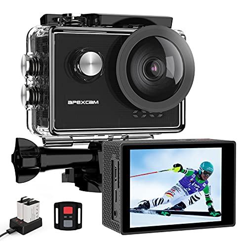 Apexcam Pro Action Cam 4K 60fps WiFi 20MP Unterwasserkamera 40M...