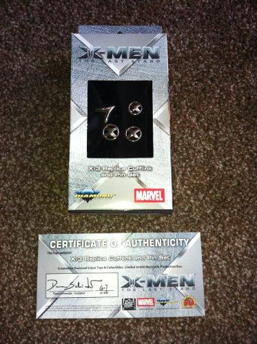 X-Men Der letzte Ständer Replica Manschettenknöpfe und Pin-Set...