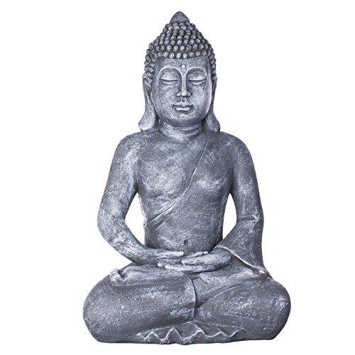 Willken Arts Buddha B4001 Steingrau Buddha Figur XXL 64cm hoch,...
