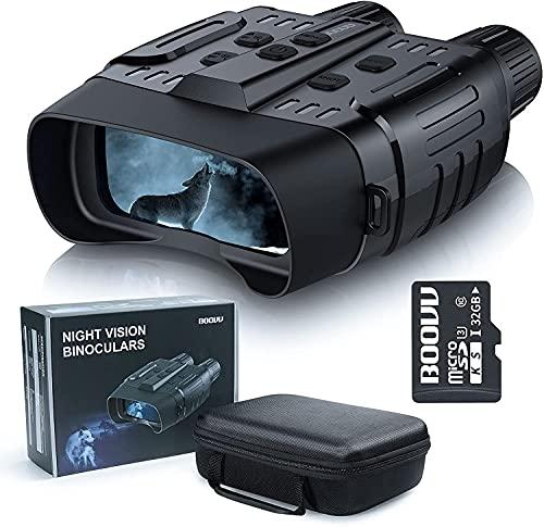 Nachtsichtgerät, BOOVV Wildkamera HD Digital Infrarot Nachtsicht...