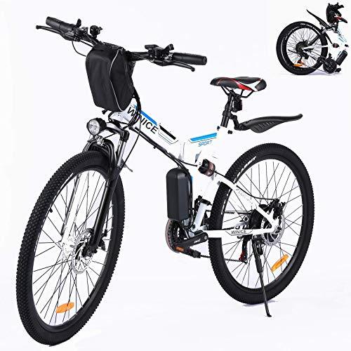 VIVI EBike Klapprad 26 Zoll Mountainbike Pedelec mit 250W Motor,...