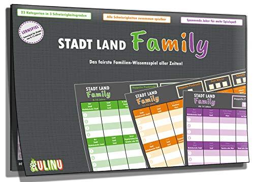 Gesellschaftsspiel - Stadt, Land, Family - Das fairste...